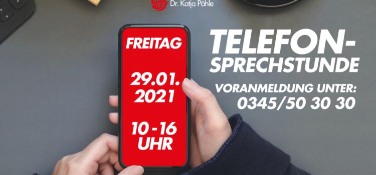 Telefonsprechstunde am 29.01.2021