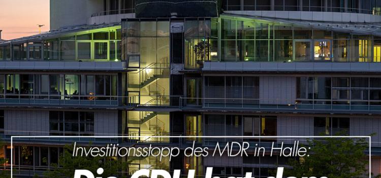 CDU-Vorgehen gegen die Rundfunkfinanzierung hat Halle und Sachsen-Anhalt Schaden zugefügt