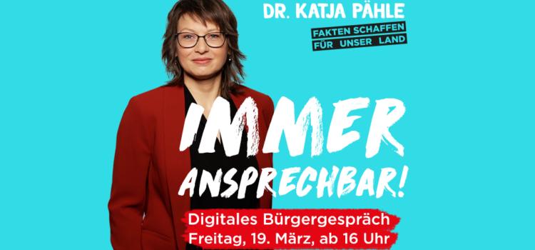 Immer ansprechbar! – Digitale Bürgersprechstunde für Halle am 19.03. um 16 Uhr