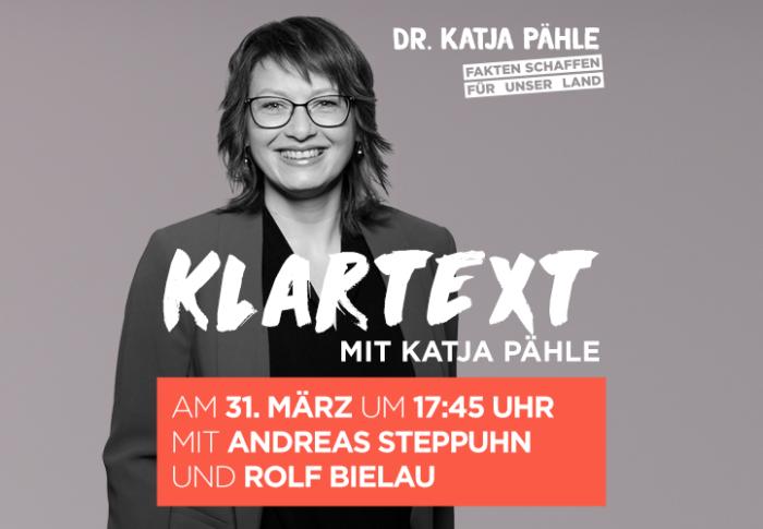 Klartext mit Katja Pähle am 31. März um 17:45 Uhr