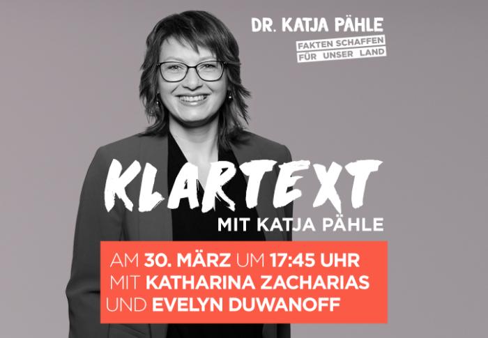 Klartext mit Katja Pähle am 30. März um 17:45 Uhr
